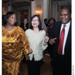 Dancing diplomats: From left, Zimbabwean Ambassador Florence Chideya gets down with Indonesian Ambassador Dienne Moehario and Tanzanian High Commissioner Alex Massinda.