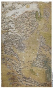 The Selden watercolour map dates from the late Ming period and shows China, Korea, Japan, the Philippines, Indonesia, Southeast Asia and part of India.
