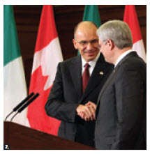 Italian Prime Minister Enrico Letta visited Ottawa.