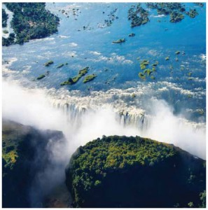 Victoria Falls, also known as Mosi-oa-Tunya, is one of the seven wonders of the world.