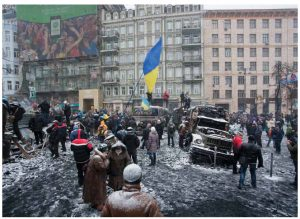 Ukrainians took to the streets in December and January to overthrow the government of former president Viktor Yanukovych.