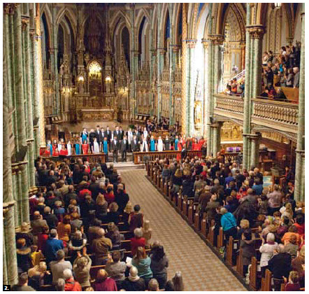 The EU held its sixth annual Christmas concert at Notre Dame Cathedral. The event featured music from Chorale De La Salle, Ottawa Children's Choir and Calixa Lavallée Choir. (Photo: Bill Shugar)