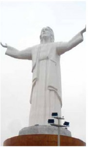 At 37 metres, Cristo del Pacifico, erected in 2011, is thought to be the world's tallest statue of Christ.