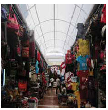 The artisan market in Lima sells clothes, art, jewelry and souvenirs, some locally crafted and some mass-produced.