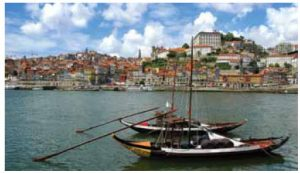 Porto's historic city centre with the port in the foreground offers port-tasting and river tours combined.