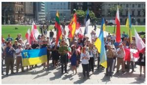 The Parliament Hill rally where Polish newspaper editor Tomasz Sakiewicz spoke in September