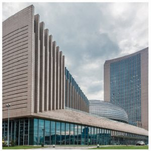 China has built and donated the skyscraper headquarters of the African Union in Addis Ababa; it's a symbolic example of China's influence in Africa.