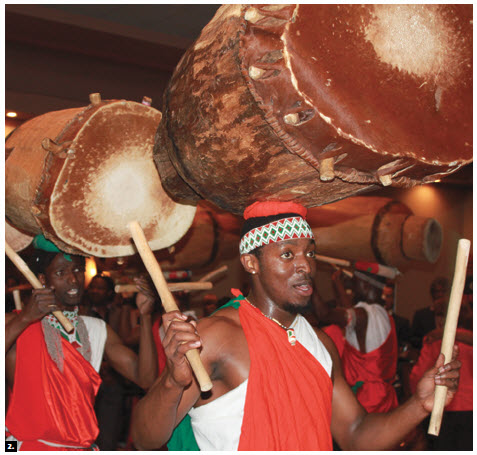 Drummers perform at Africa Day. (Photo: Ulle Baum)