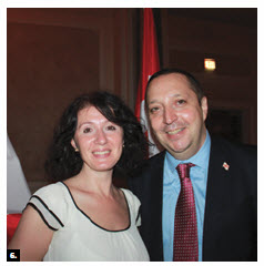 Georgian Ambassador Alexander Latsabidze and his wife, Tea Uchaneishvili, hosted a national day reception at the Château Laurier. (Photo: Ulle Baum)