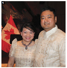 Joyce Tamayo and her husband, Eric, then chargé d'affaires of the Philippines, hosted a reception to celebrate the Philippines' national day at the National Art Centre. (Photo: Ulle Baum)