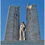 Canada Bereft, also known as Mother Canada, is part of the Vimy Ridge National Historic Site in Nord-Pas de Calais. It marks Canada's involvement in the First World War and memorialises the 11,285 missing Canadian soldiers with no known graves. Their names appear on the monument.