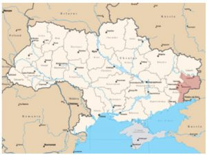 Ukraine's two separatist regions, Lugansk and Donetsk, are pictured above.