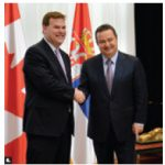 Foreign Minister John Baird and Ivica Daˇci´c, first deputy prime minister and foreign minister of Serbia, met in Ottawa. The two countries signed a foreign investment promotion and protection agreement. (Photo: DFATD)