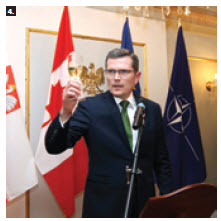To mark the 25th anniversary of Poland becoming a state once again, Ambassador Marcin Bosacki hosted a reception. (Photo: Sam Garcia)