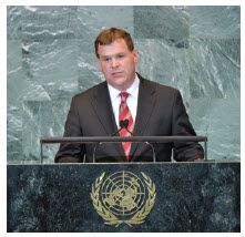 Mr. Baird at the UN, where he advocated for reform and accountability.