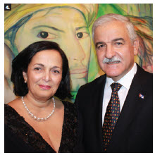 Ambassador Julio Antonio Garmendía Peña and his wife, Miraly Gonzalez, hosted a reception in celebration of Cuba's national day at the embassy. (Photo: Ülle Baum)