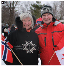Gov. Gen. David Johnston, shown with Norwegian Ambassador Mona Brother, hosted a winter celebration at Rideau Hall. Participating embassies included Austria, Denmark, Finland, Germany, Iceland, Italy, Netherlands, Norway, Switzerland, Slovenia, Sweden, and the EU delegation. (Photo: Ülle Baum)