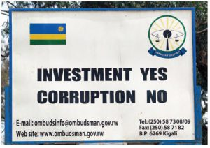 A sign from an anti-corruption campaign in Rwanda, headed by President Paul Kagame. (Photo: © Antonella865 | Dreamstime.com)