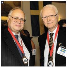 Finnish Ambassador Charles Murto and Swedish Ambassador Per Ola Sjogren hosted dinners for Dining with the Ambassadors. (Photo: Lois Siegel)