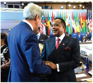 U.S. Secretary of State John Kerry and Congolese President Denis Sassou Nguesso at the U.S.-Africa Leaders Summit. (Photo: U.S. Department of State )