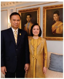 Ambassador Vijavat Isarabhakdi and his wife, Wannipa. (Photo: Dyanne Wilson)