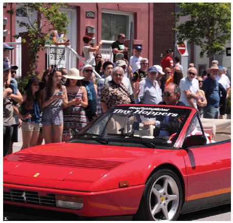 Italian Ambassador Gian Lorenzo Cornado participated in the Italian car parade that was part of the FCA Ferrari Festival. A total of 50 Ferraris were driven from the ambassador's Aylmer residence to Preston Street.  (Photo: André Chenier)