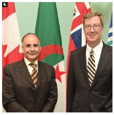 Algerian Ambassador Hocine Meghar paid a courtesy call on Mayor Jim Watson. (Photo: Roger Lalonde)