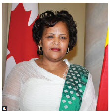 Ethiopian Ambassador Birtukan Ayano Dadi hosted a reception at the Fairmont Château Laurier to mark the 24th anniversary of the downfall of the Dergue regime and 50 years of diplomatic relations with Canada. (Photo: Ulle Baum)