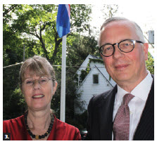 Icelandic Ambassador Sturla Sigurjónsson and his wife, Elín Jonsdottir, hosted a reception at their residence to mark Iceland's national day. (Photo: Ulle Baum)