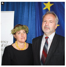 To mark the conclusion of Latvia's presidency of the Council of the European Union, Ambassador Juris Audarins and his spouse, Aija Audarina, hosted a midsummer solstice celebration at Ottawa City Hall. (Photo: Ulle Baum)