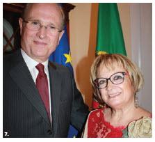 Portuguese Ambassador Jose Fernando Moreira da Cunha and his wife, Maria de Lurdes Brito Azevedo da Cunha, hosted a national day reception at their residence. (Photo: Ulle Baum)