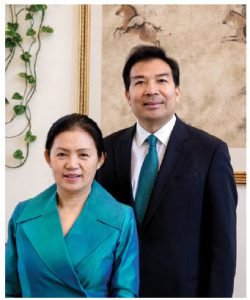 Chinese Ambassador Luo Zhaohui and his wife, Jiang Yili. (Photo: Dyanne Wilson)