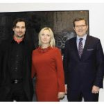 Slovak Ambassador Andrej Droba, artist Dominik Sokolowski, gallery director Edith Betkowski, Polish Ambassador Marcin Bosacki and Serbian Ambassador Mihailo Papazoglu at a vernissage at Alpha Art Gallery co-hosted with the Embassy of Poland. (Photo: Lois Siegel)