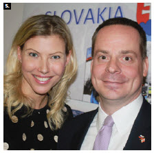 Slovak Ambassador Andrej Droba and his wife, Daniela Drobova, hosted a Taste of Slovakia event at their embassy. (Photo: Ülle Baum)