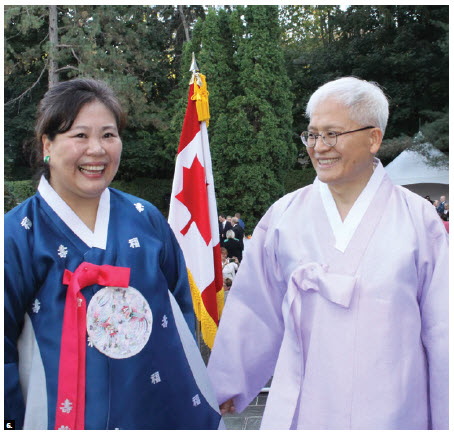 To mark Korea's national day and Armed Forces Day, Ambassador DaeShik Jo and his wife, Eunyoung Park, hosted a reception at their residence. (Photo: Ülle Baum)