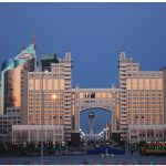 The Kazmunaigas building is home to Kazakhstan's oil and gas ministry. (Photo: Ülle Baum)