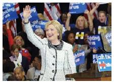 Hillary Clinton has said she won't allow the Keystone Pipeline project. (Photo: Clinton campaign)
