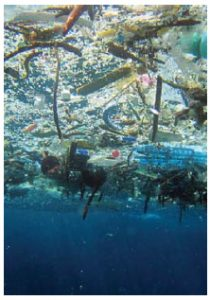 The Great Pacific Garbage Patch is modern detritus in the northern Pacific — solid debris, liquid chemicals and tiny pieces of plastic. (Photo: www.mnn.com)