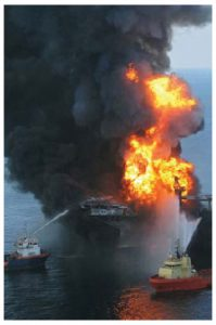 A third of oil and gas extracted worldwide comes from oceanic sources, which raises the prospect of another Deepwater Horizon explosion. (Photo: United States Coast Guard)