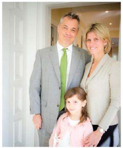 Ambassador Nicolas Lloreda-Ricaurte, his wife, Alessandra Tassara, and their seven-year-old daughter Daniella love their newly renovated home. (Photo: Ashley Fraser)