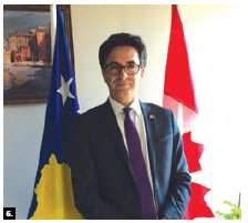 Lulzim Hiseni, Kosovo's chargé d'affaires, has opened his country's first embassy in Ottawa. (Photo: Embassy of Kosovo)