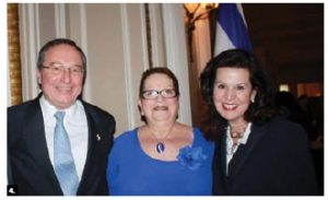 To mark Israel's national day, Rafael and Miriam Barak, (left) hosted a reception at the Château Laurier. Vicki Heyman attended.
