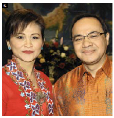 """Indonesian Ambassador Teuku Faizasyah and his wife, Andis, hosted a coffee morning """"with a touch of Indonesian heritage"""" at the embassy. (Photo: Lois Siegel)"""