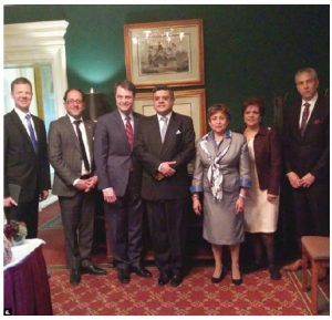The Canada-Sri Lanka Friendship Group has 30 MPs as members, including, from left, Sven Spengemann, Ali Ehsassi, Anthony Rota, Sri Lankan High Commissioner Ahmed A. Jawad, Yasmin Ratansi, Senator Mobina Jaffer, Frank Baylis. Jawad hosted a dinner after the group was formed.