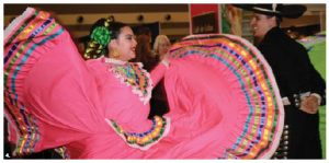 This dancer at the Travel and Vacation Show was from Mexico. (Photo: Ülle Baum)