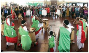 Burundian drummers entertain the crowd at Lansdowne Park's Aberdeen Pavilion, where Africa Day was held. (Photo: Sam Garcia)