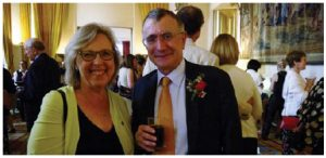 Green Party leader Elizabeth May, left, attended the Fête Champêtre, hosted by French Ambassador Nicolas Chapuis. (Photo: Olga Koppel)