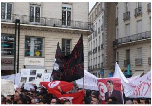 Protesters in Nantes, France, take to the streets in support of democratic uprisings in Tunisia in 2011. (Photo: Romain Bréget)