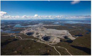 The Ekati diamond mine in the Northwest Territories is one of five diamond mines operating in Canada today. Charles Edgar Fipke traced the mineral train 300 kilometres to the Ekati diamond pipe that, in 1996, became the Ekati diamond mine.