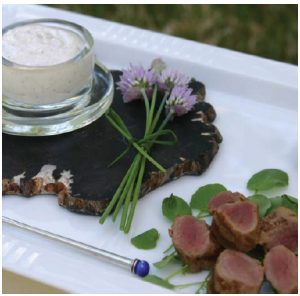 Barbecued Baby Lamb Tenderloins with Skyr Sauce (Photo: larry dickenson)